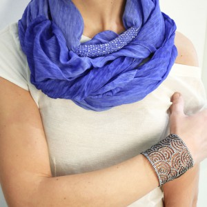 GEM FOULARD ELECTRIC BLUE MELANGE